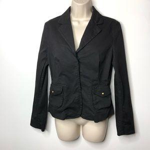 Nili Lotan Black cotton blazer jacket 6 BA3